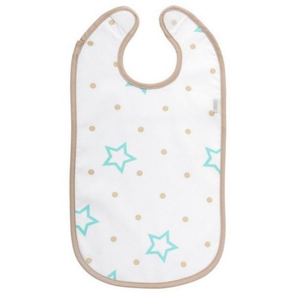 ZEWI bébé-jou Esslatz plastifiziert-white Stars + Points